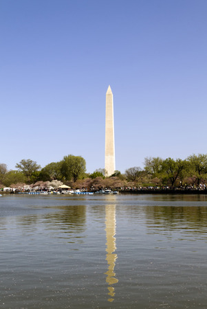 dc: Washington Monument and the tidal basin in Washington D.C. Stock Photo