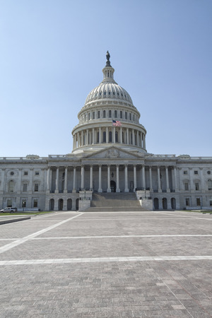 Vor dem Kapitol in Washington DC Standard-Bild - 43751491
