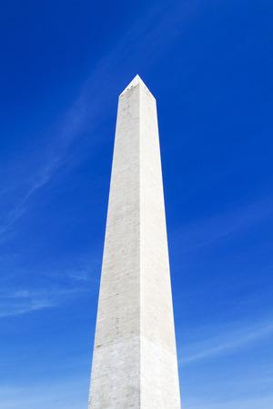 Washington Monument in Washington D.C. soaring into the blue sky