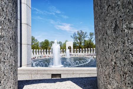 world war ii: A view of The National World War II Memorial in Washington D.C., USA Editorial