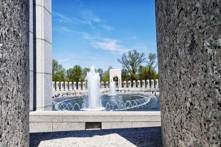 A view of The National World War II Memorial in Washington D.C., USA Editorial