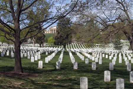 grave site: The Arlington National Cemetery in Virginia; USA Editorial