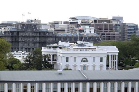 casa blanca: El lado de la Casa Blanca en Washington DC Editorial