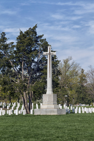 Tombstones at the Arlington National Cemetery in Virginia, USA