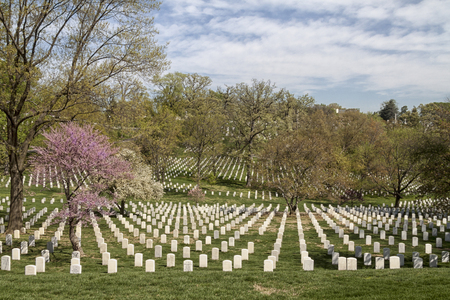 The Arlington National Cemetery in Virginia, USA