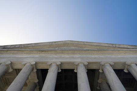 The entrance to the Jefferson Memorial building in Washington DC Standard-Bild