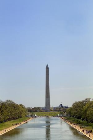 Das Washington Monument auf der National Mall in Washington DC Standard-Bild - 62165680