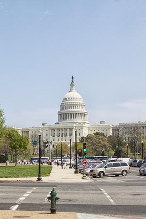 Die Vereinigten Staaten Capitol Building auf der Mall in Washington DC Standard-Bild - 62165681