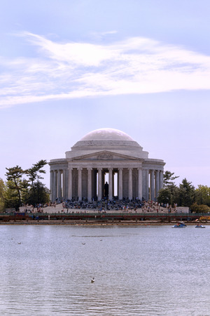 Die Thomas Jefferson Memorial in Washington DC Standard-Bild - 62165682