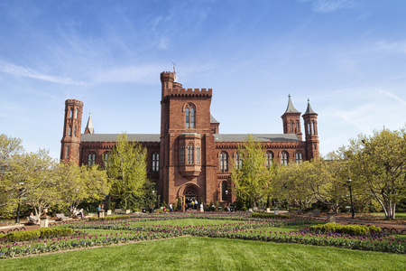 The original Smithsonian Institutional building in Washington, D.C.