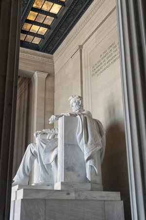 abraham lincoln: The Abraham Lincoln statue in Washington D.C.