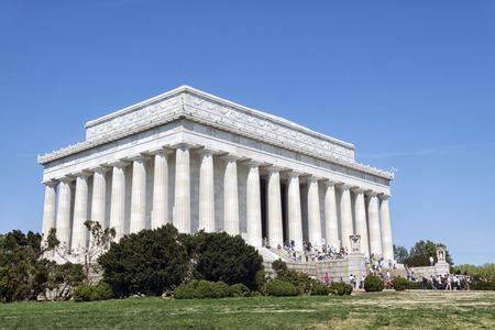 Die Abraham Lincoln Memorial in Washington DC Standard-Bild - 63408804
