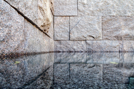 Reflection pool of the Franklin Delano Roosevelt Memorial (FDR) in Washington D.C., USA Standard-Bild