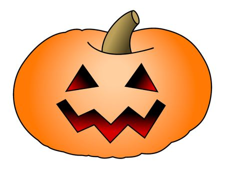 Halloween Pumpkin isolated on white background. With clipping path.