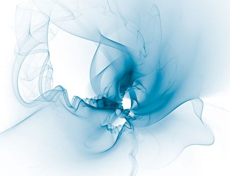 Delicate transparent abstract blue background. It also reminds to a bridal veil or a light textile. Space for copy.