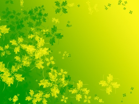 Abstract four leaf clover isolated on white. Spring, freshness concept. Useful for Saint Patrick day too. Stock Photo - 4399871