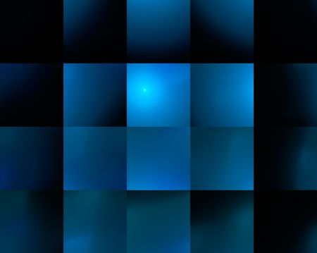 Seamless abstract blue background with square cells.
