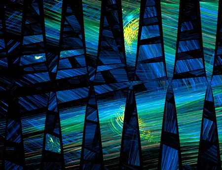 Blue abstract background. It reminds to a night landscape with the moon reflecting on the water.