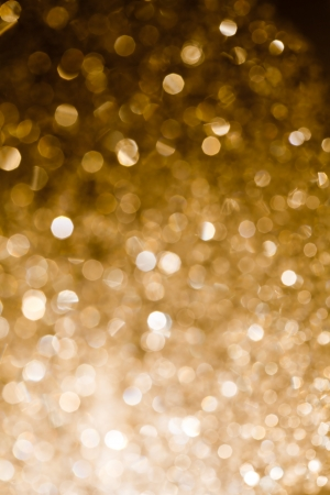 Gold blurred light   Useful as Christmas background or greeting card  Stock Photo