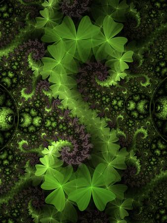 Illustration of Irish clovers background for St. Patrick Stock Photo
