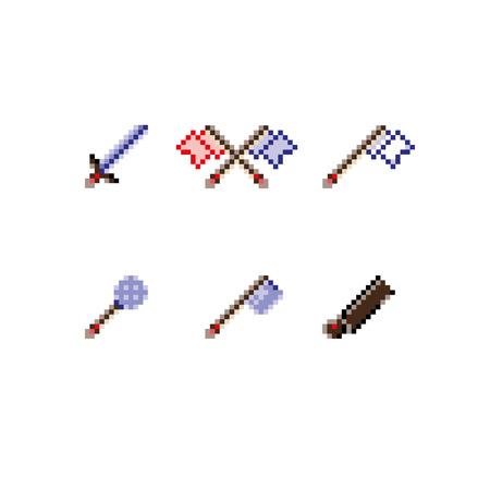 arsenal: Good set arsenal icon 2d for arcade, play online Illustration