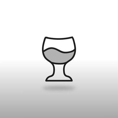 booze: icon insulated glass booze alcohol wine Illustration
