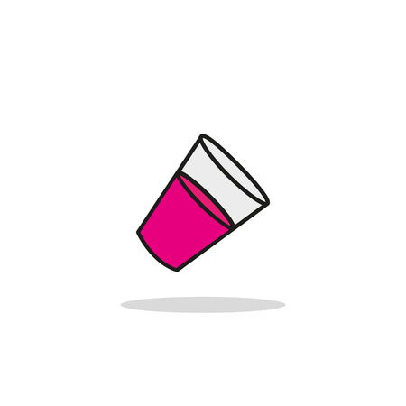 vector icon vetro con sfondo acqua il latte web