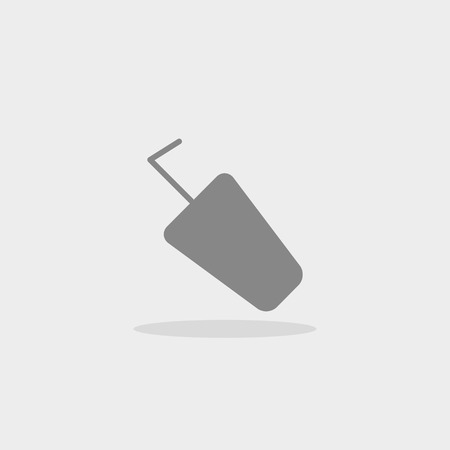 plastic straw: plastic Cup with straw vector icon