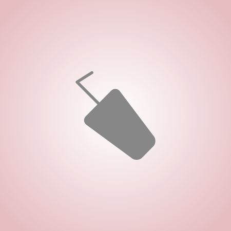 milk pail: plastic Cup with straw vector icon