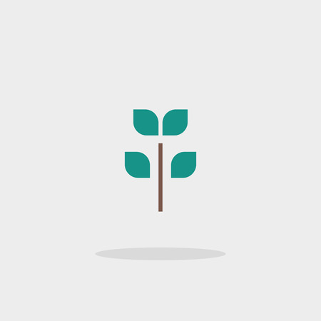 germinate: Icon tree vector web sign sprout growth