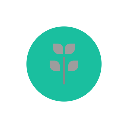 sprout growth: Icon tree vector web sign sprout growth