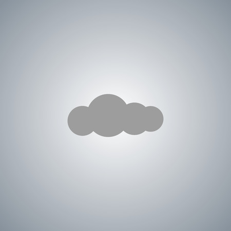 overcast: The cloud is a symbol icon vector sign cloud weather overcast sweetheart