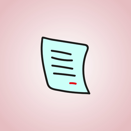 autographing: ?ontract signature icon is a white sheet of paper vector web