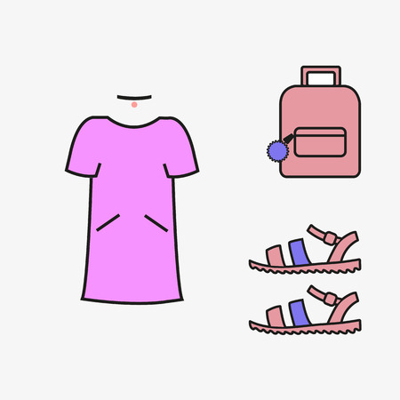 outfit: Image vector dress backpack beautiful girl kolai outfit