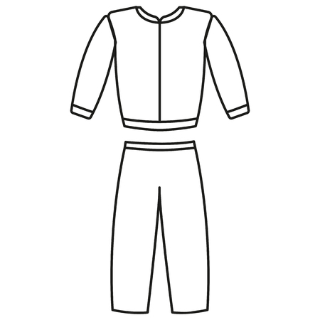 hooded vest: Tracksuit sports costume beautiful icon web app