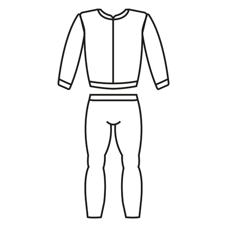 Tracksuit sports costume beautiful icon web app