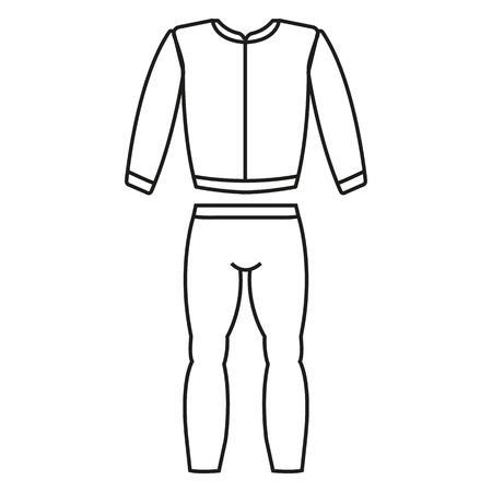 traje de chándal de los deportes hermosa icono de la aplicación web