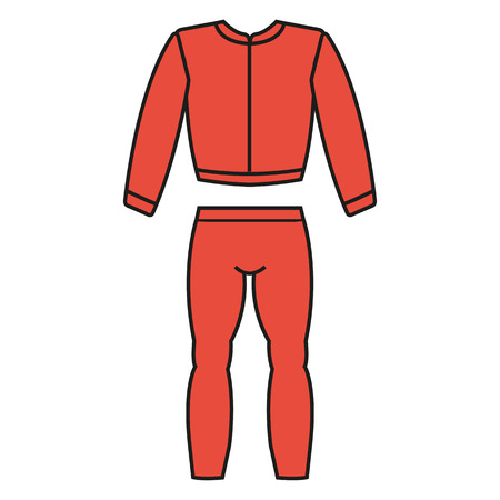 traje de chándal de los deportes hermosa icono de la aplicación web Ilustración de vector