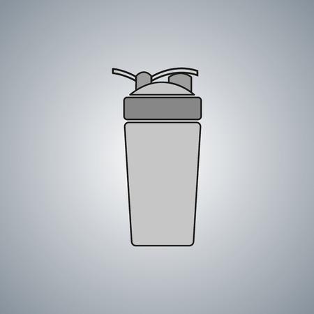 SHAKER: shaker vector icon. protein drink sport fitness. Illustration