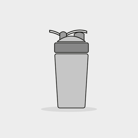 protein: shaker vector icon. protein drink sport fitness. Illustration