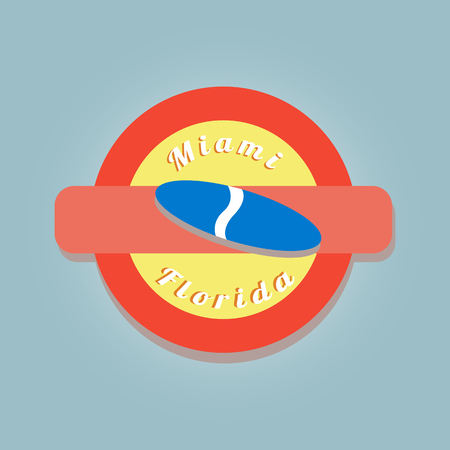 simbol: Color stamp with simbol of miami