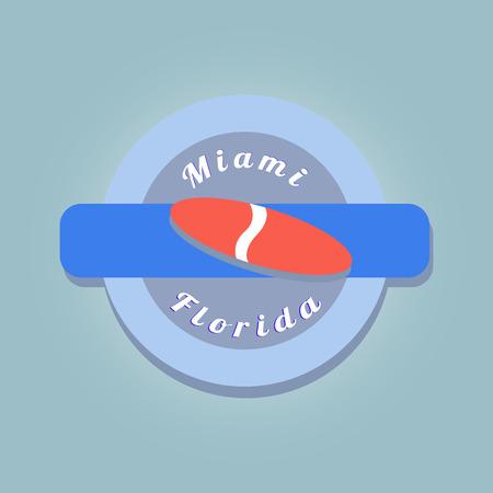 simbol: timbro di colore con simbolo di Miami