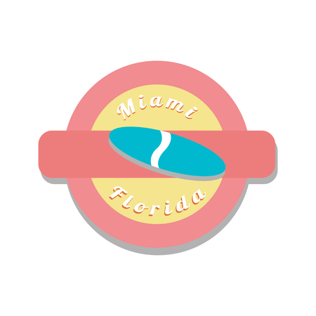 miami: Color stamp with simbol of miami