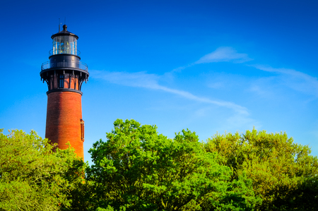 Brick Lighthouse over the trees