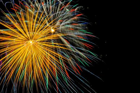 Golden Burst of fireworks