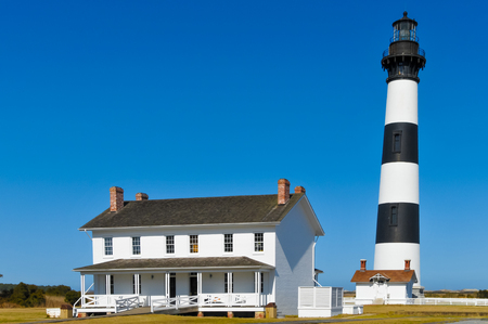 Bodie Lighthouse and a house Editorial