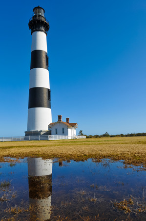 Bodie Island Lighthouse Reflection Editorial