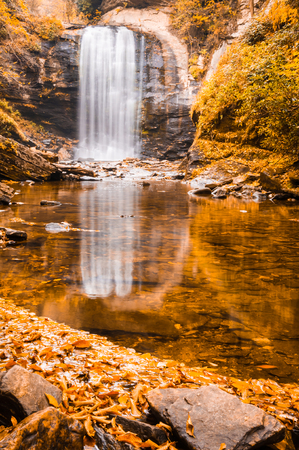 Waterfall Reflection Stock Photo