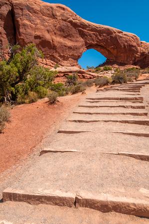 sagebrush: Walkway to the arch