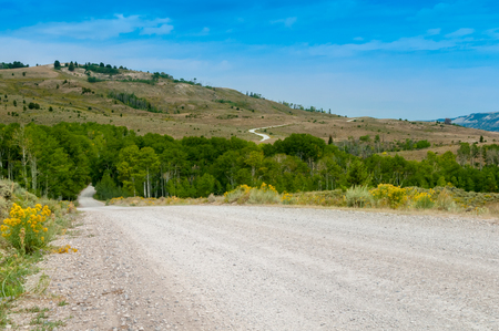 A road to the mountain Stock Photo